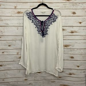 La Blanca White Embroidered Swimsuit Coverup NWT